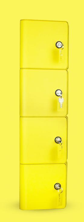 Consigne de recharge pour téléphones avec système de fermeture à clefs
