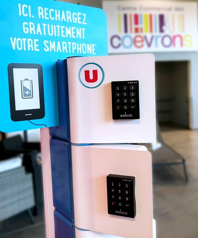 Rechargez votre smartphone dans vos magasins U