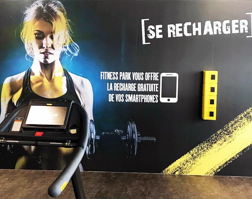 Publicité sur Lieu de vente fitness PLV