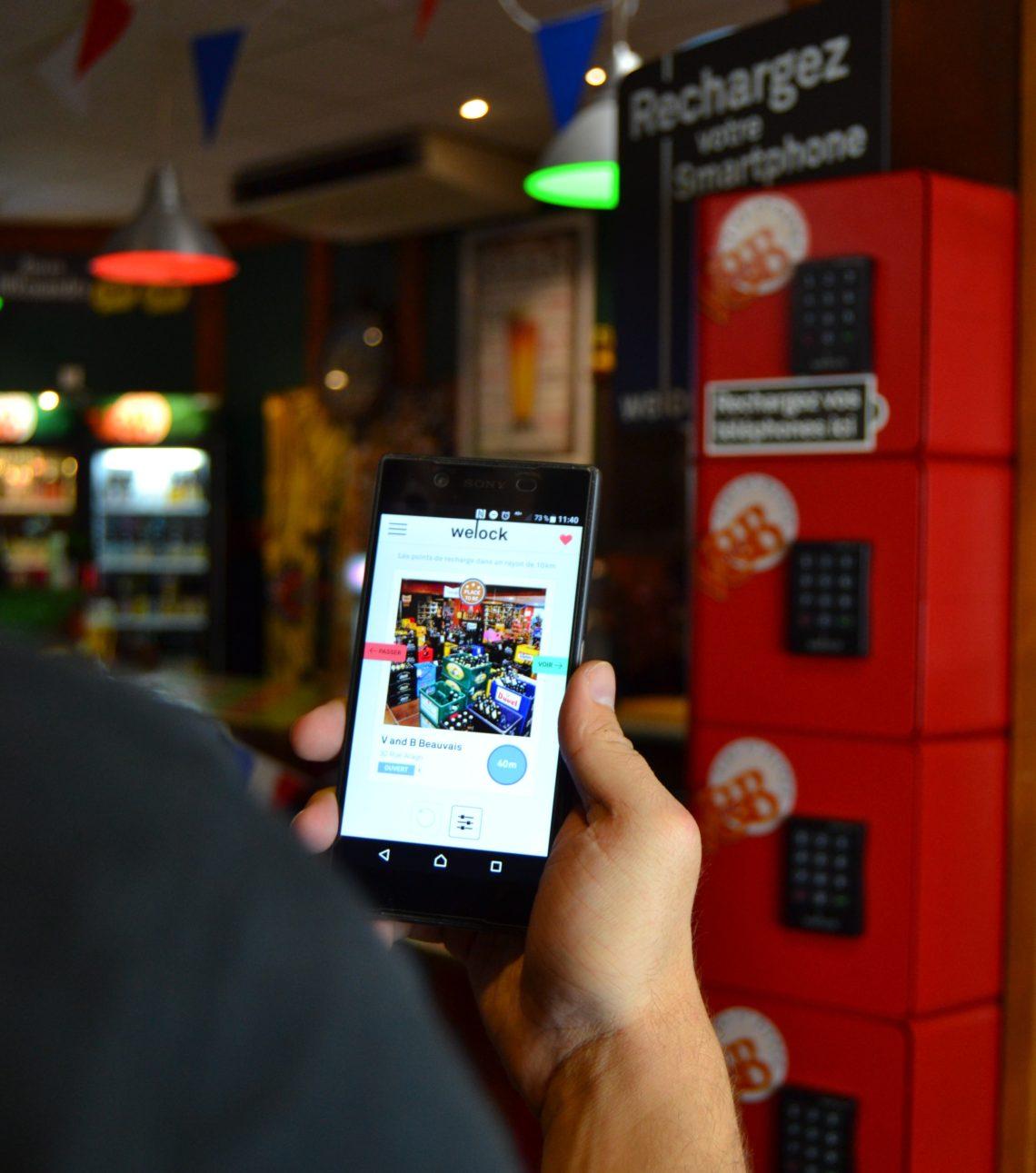 Les lieux équipés de stations de rechargement pour téléphones portables welock sont référencés sous forme de fiches lieux sur notre application