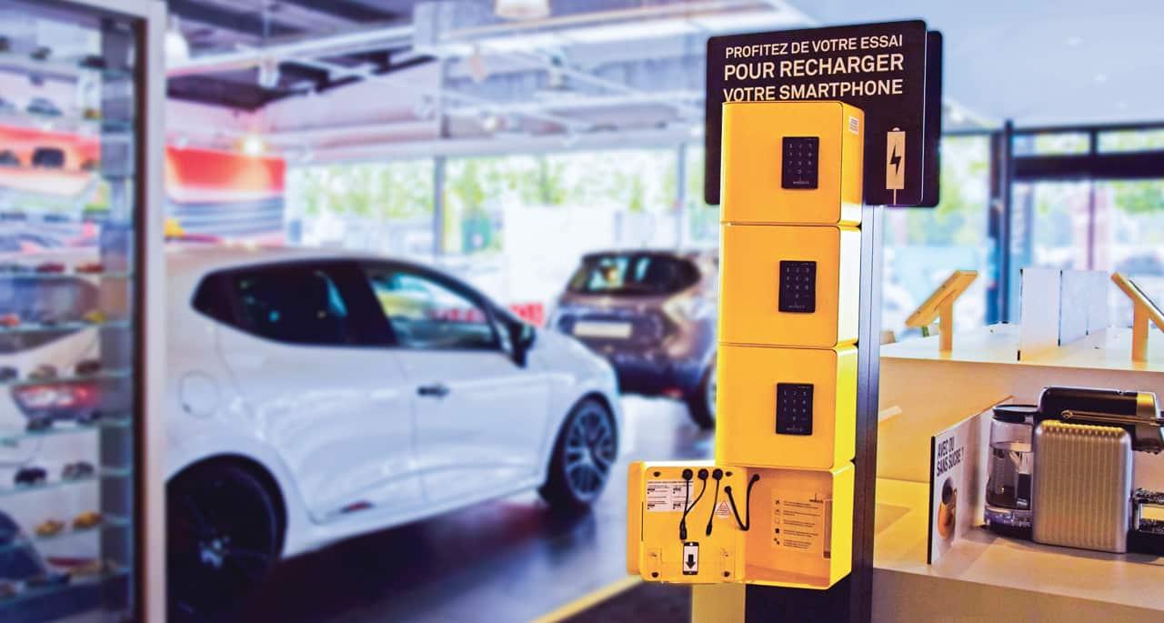 Réalisez une PLV publicité sur lieu de vente sur votre service de recharge pour téléphones