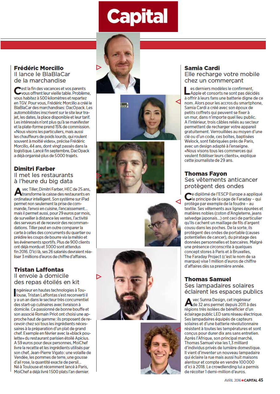 Capital magasine article welock