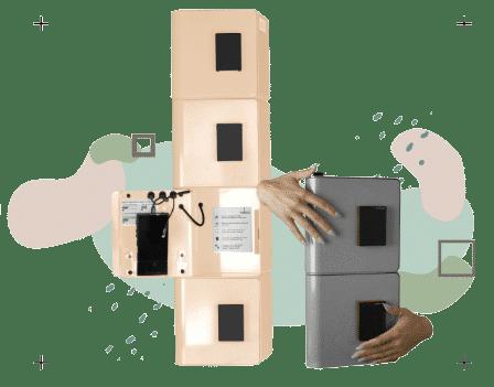 Bornes de recharge à serrures RFID