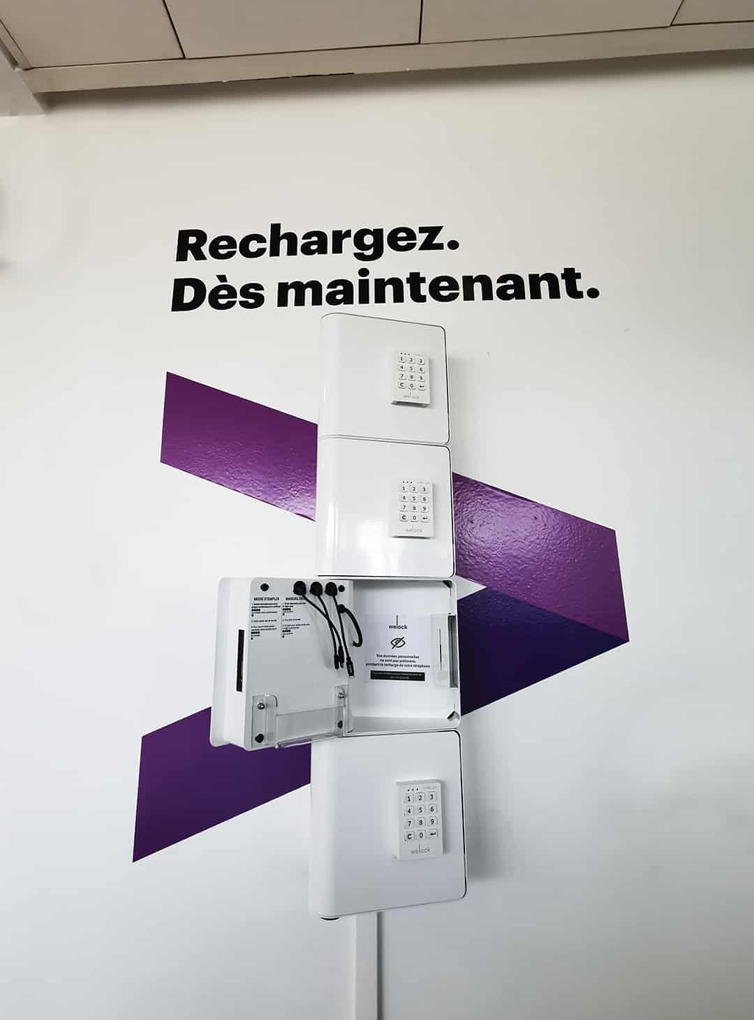 Station de rechargement pour téléphones Accenture